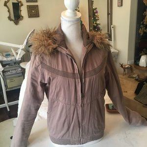 Volcolm rose fur jacket